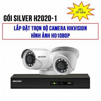 Trọn bộ 2 camera HIKVISION HD1080P cho gia đình goiSILVER H2020-1