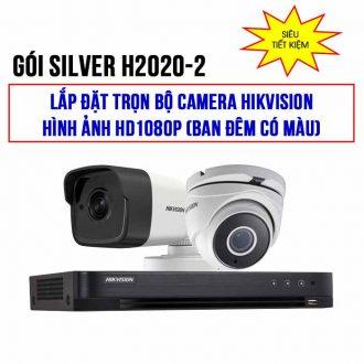 Trọn bộ 2 camera HIKVISION HD1080P gói SILVER H2020-2 giá rẻ