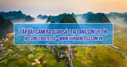 Lắp đặt camera tại Lạng Sơn giá tốt