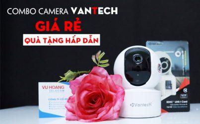 Combo camera wifi vantech tặng sạc dự phòng