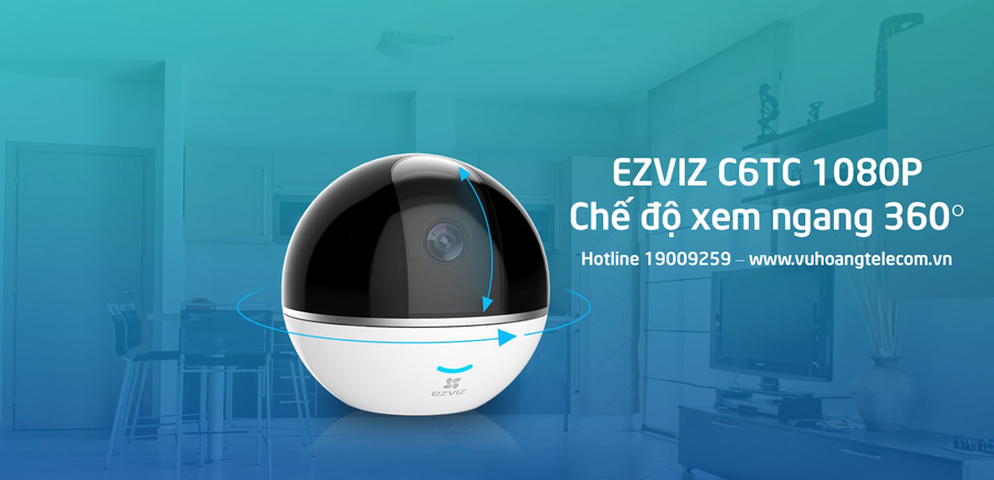 EZVIZ C6TC 1080P theo dõi chuyển động thông minh