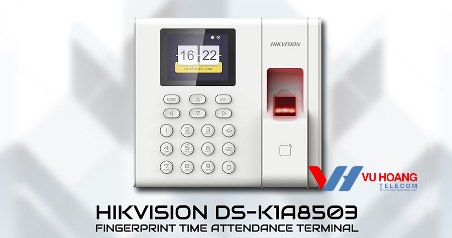 Máy chấm công vân tay Hikvision DS-K1A8503F