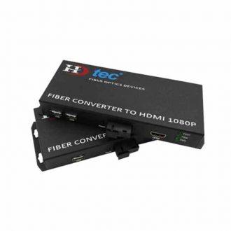 Bộ kéo dài HDMI HDtec bằng cáp quang 20Km có điều khiển chuột