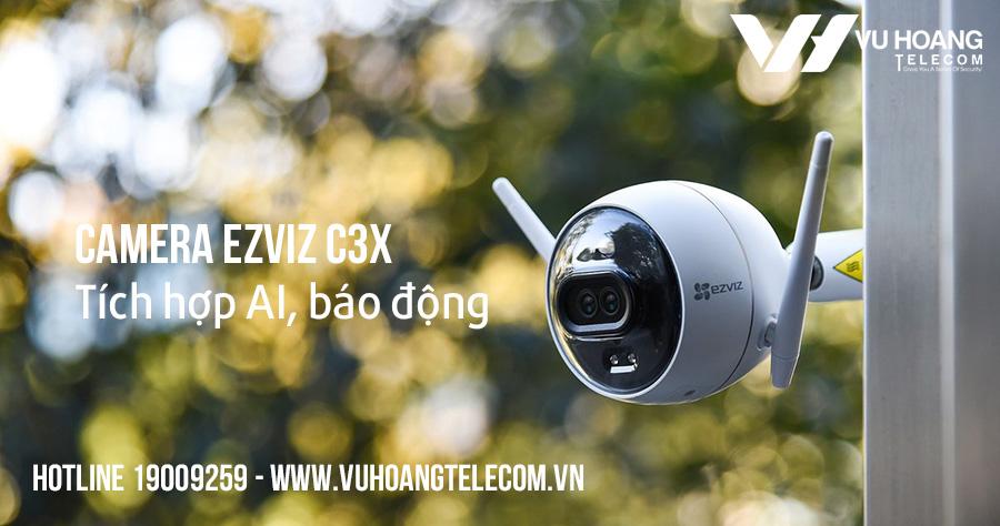 Camera IP Wifi 2MP Ezviz C3X tích hợp AI
