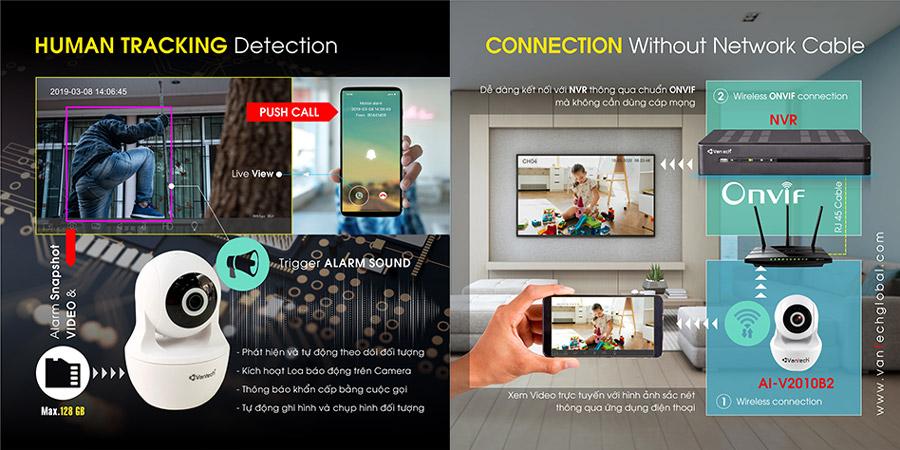 Camera AI Wifi 3MP VANTECH AI-V2010B2 chất lượng