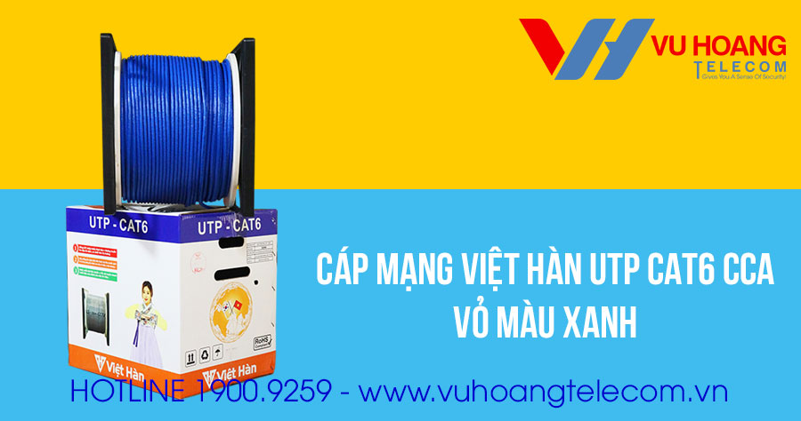 Dây cáp mạng Việt Hàn UTP CAT6 CCA