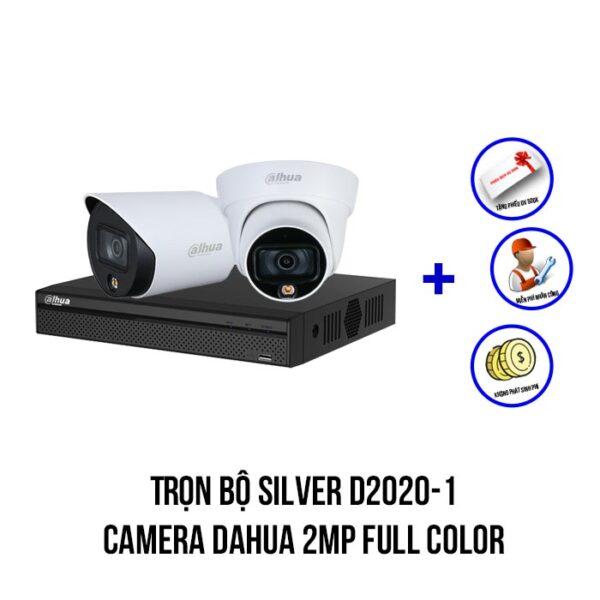 Lắp đặt trọn bộ camera Dahua Full Color gói SILVER D2020-1