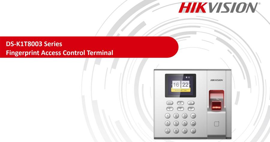 Series máy chấm công vân tay Hikvision DS-K1T8003