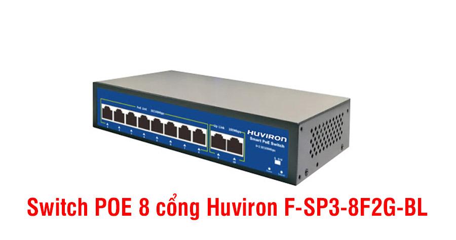 Switch POE 8 cổng Huviron F-SP3-8F2G-BL
