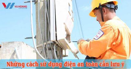 cách sử dụng điện an toàn