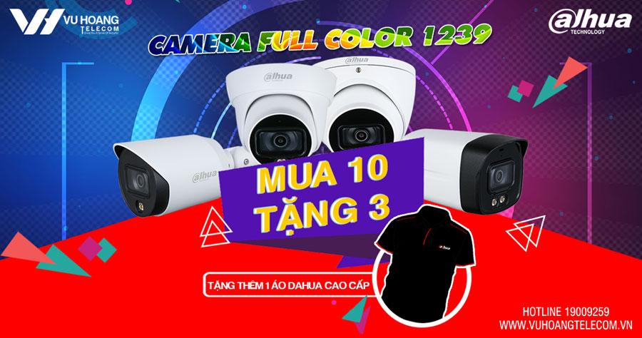 Khuyến mãi Camera Full Color 1239 mua 10 tặng 3