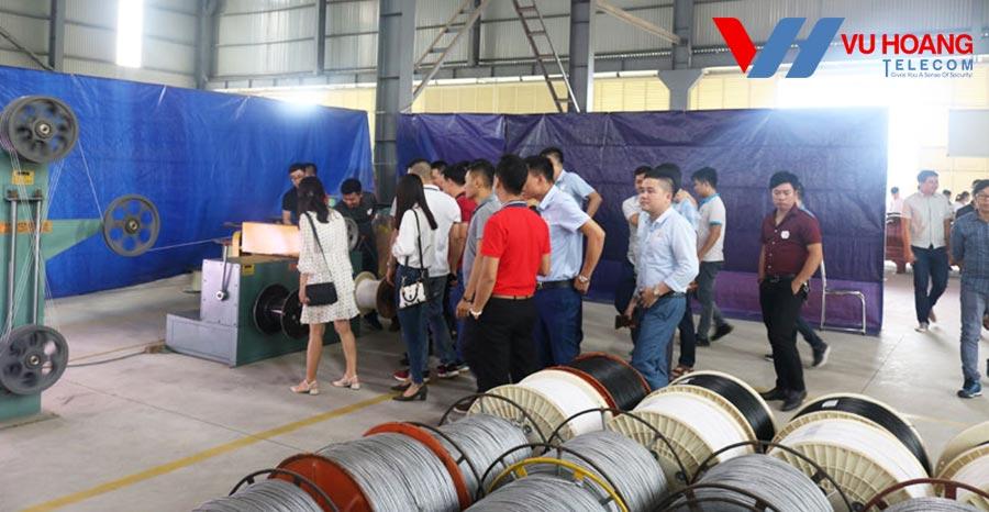 Tham quan nhà máy sản xuất cáp Việt Hàn