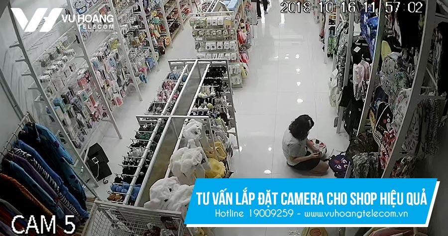 Camera giám sát các vị trí bán hàng trong shop