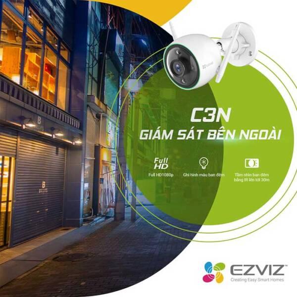 Camera Wifi EZVIZ C3N 2mp