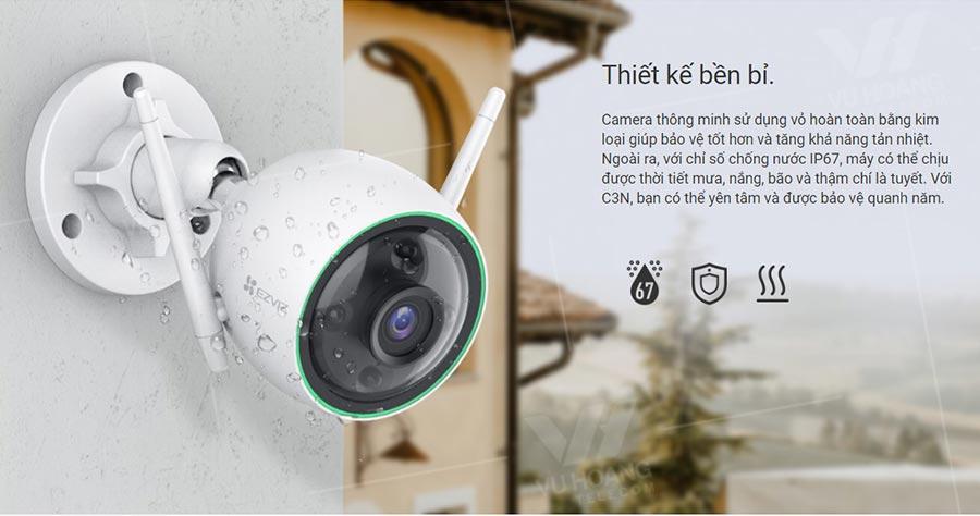 Camera EZVIZ C3N 1080P thiết kế bền bỉ
