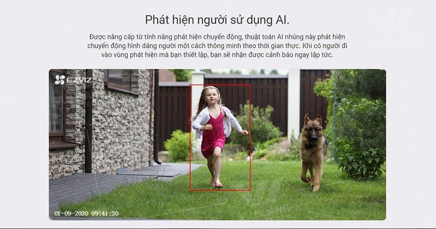 Camera EZVIZ C3N 1080P tích hợp công nghệ AI