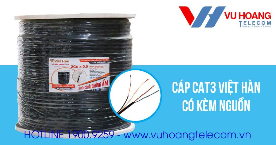 Cáp thoại CAT3 có kèm nguồn Việt Hàn