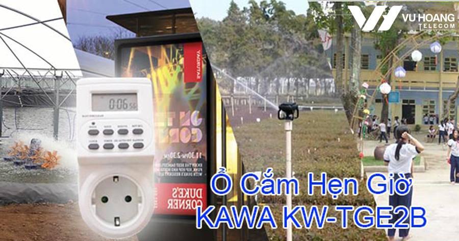 cong tac o cam hen gio KAWA KW-TGE2B