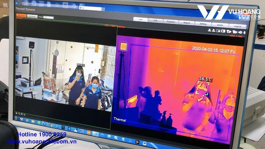 Hình ảnh test đo nhiệt độ KBVISION thực tế