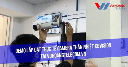 Demo camera thân nhiệt KBVISION tại Vuhoangtelecom