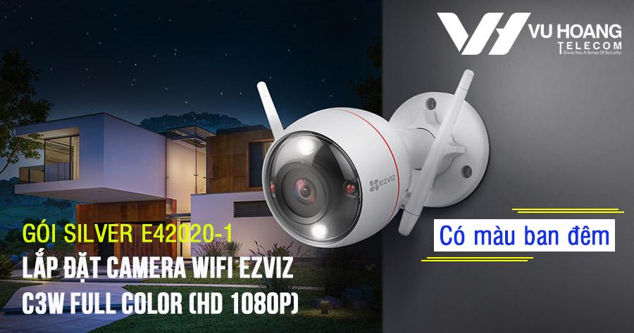 Lắp đặt camera Wifi EZVIZ C3W Full Color (SILVER E42020-1) giá rẻ
