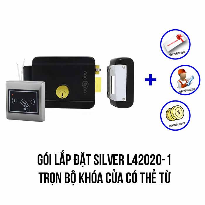 Lắp đặt trọn bộ khóa cửa có thẻ từ giá rẻ (SILVER L42020-1)