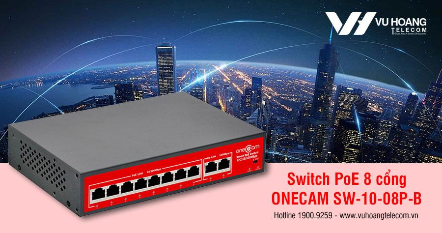 Bán Switch PoE 8 cổng ONECAM SW-10-08P-B giá tốt, mới 100%