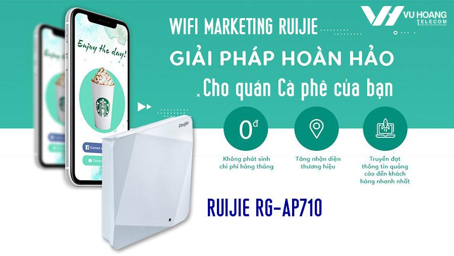 Giải pháp Wifi Marketing Ruijie hiệu quả cho quán cà phê, Coffee shop