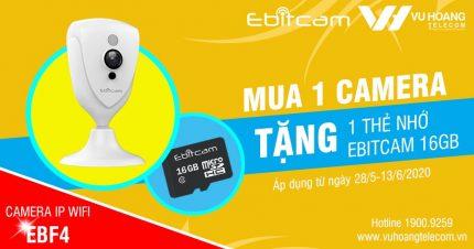 Mua camera EBF4 2MP tặng 1 thẻ nhớ 16GB chính hãng