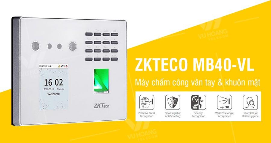 Máy chấm công khuôn mặt ZKTECO MB40-VL