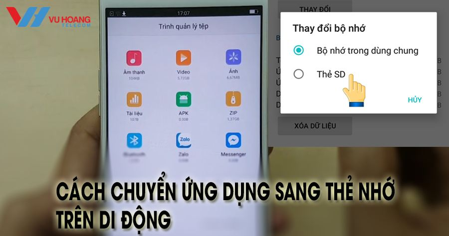cach chuyen ung dung sang the nho tren di dong