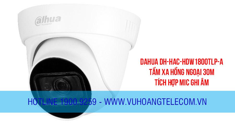 Camera HDCVI Dome 8MP DAHUA DH-HAC-HDW1800TLP-A