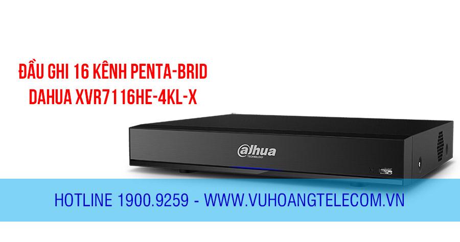 Đầu ghi HDCVI 16 kênh Penta-brid DAHUA DH-XVR7116HE-4KL-X