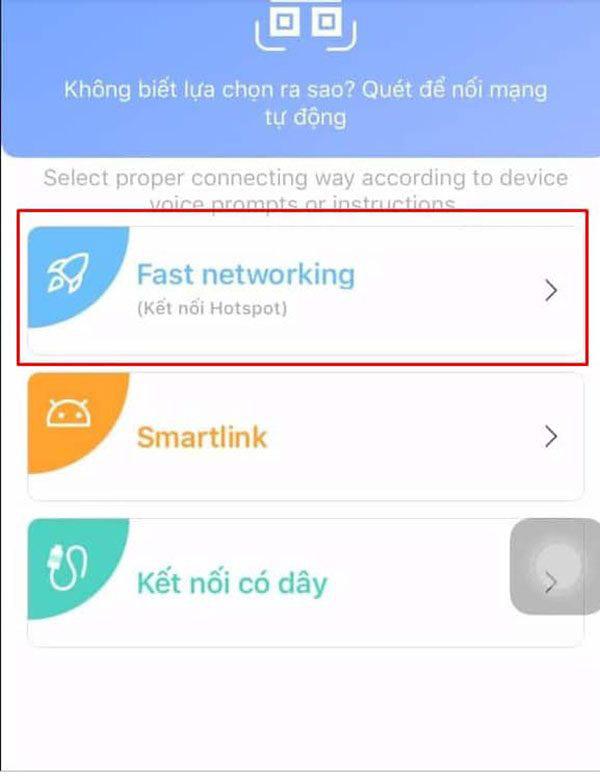 Kết nối camera Yoosee thông qua Hospot / Fast Networking