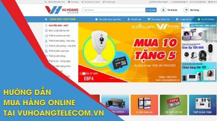 Hướng dẫn mua hàng Online trên Vuhoangtelecom.vn
