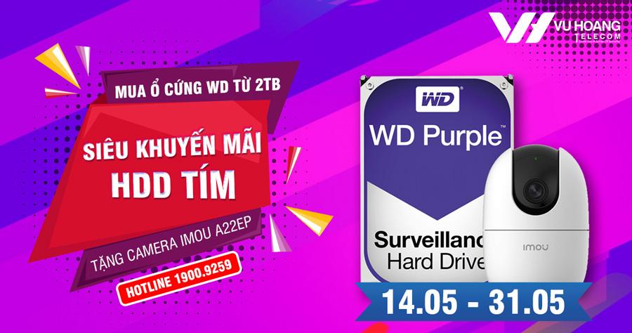 Mua ổ cứng WD Tím tặng camera Wifi Imou IPC A22EP