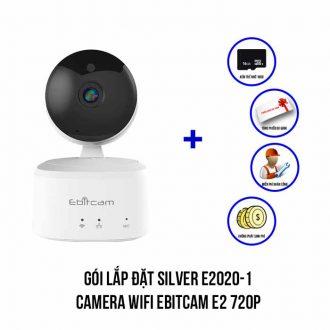 Lắp đặt camera Wifi EBITCAM E2 720P trọn bộ SILVER E2020-1