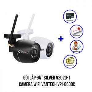 Lắp đặt camera Wifi VANTECH VPI-6600C trọn bộ SIVER V2020-1