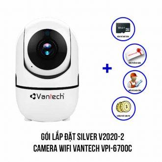 Lắp đặt camera Wifi VANTECH VPI-6700C trọn bộ SIVER V2020-2