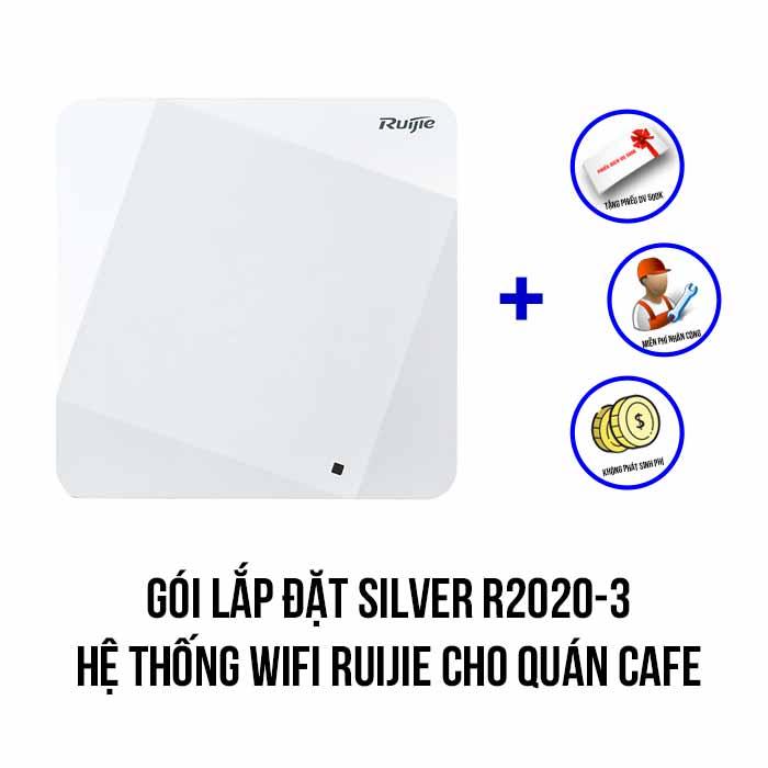 Lắp đặt hệ thống Wifi Ruijie cho quán Cafe gói Silver R2020-3