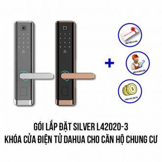 Lắp đặt khóa cửa điện tử DAHUA cho căn hộ chung cư gói SILVER L42020-3