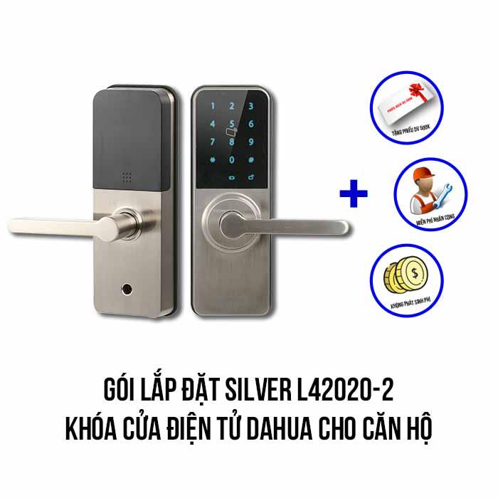 Lắp đặt khóa cửa điện tử DAHUA cho căn hộ gói SILVER L42020-2