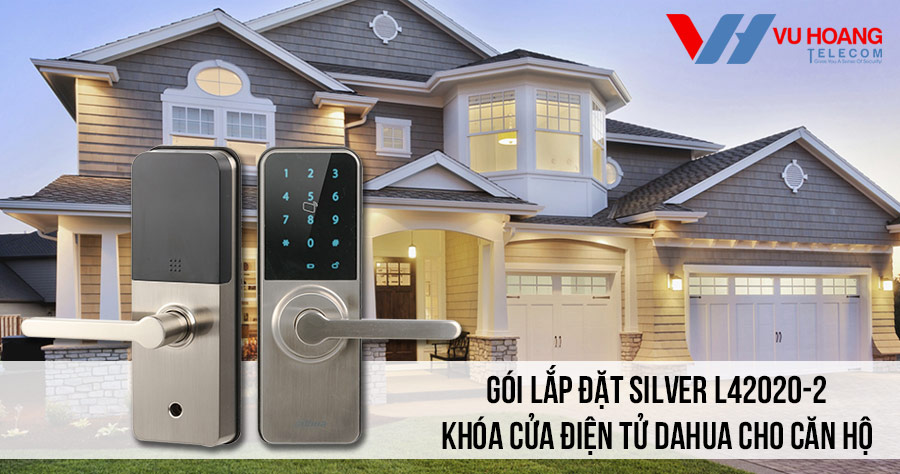 Lắp đặt khóa cửa điện tử DAHUA cho căn hộ giá rẻ