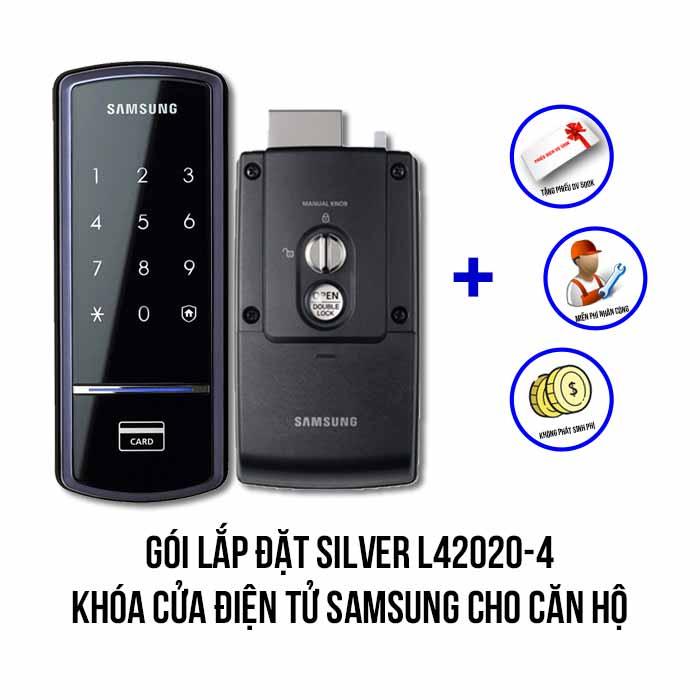 Lắp đặt khóa điện tử SAMSUNG gói SILVER L42020-4