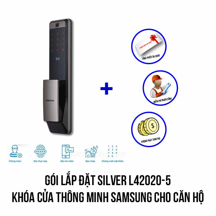 Lắp đặt khóa thông minh SAMSUNG cao cấp gói SILVER L42020-5