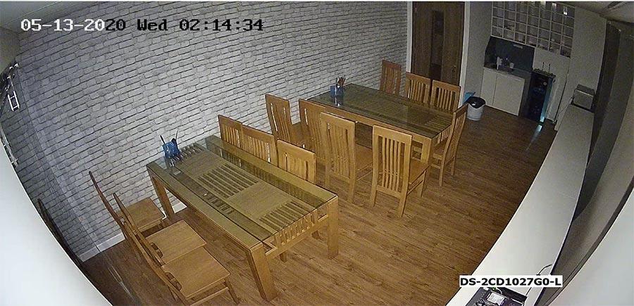 Test camera IP ColorVu HIKVISION DS-2CD1027G0-L ban đêm ở trong nhà