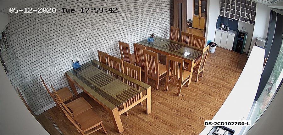 Test camera IP ColorVu HIKVISION DS-2CD1027G0-L ban ngày ở trong nhà