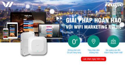 Tư vấn giải pháp Wifi Marketing Ruijie hiệu quả