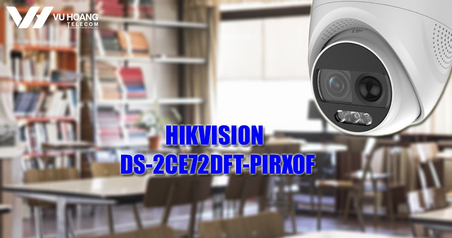 Camera HDTVI Colorvu 2MP HIKVISION DS-2CE72DFT-PIRXOF