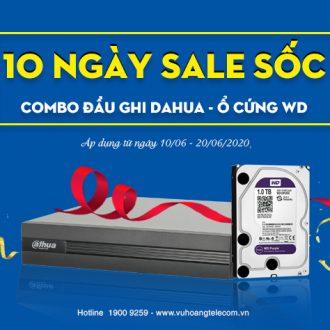 Khuyến mãi mua Combo đầu ghi Dahua và ổ cứng giá sốc